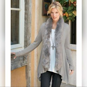 Soft Surroundings Cardigan with Detachable Collar